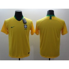 Brazil Home 2018 FIFA World Cup Thailand Soccer Men Jersey