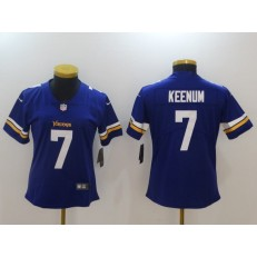 Women Nike Minnesota Vikings 7 Case Keenum Purple Vapor Untouchable Limited NFL Jersey