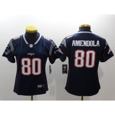 Women Nike New England Patriots 80 Danny Amendola Navy Vapor Untouchable Limited NFL Jersey