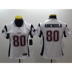 Women Nike New England Patriots 80 Danny Amendola White Vapor Untouchable Limited NFL Jersey