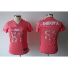 Women Nike New England Patriots 87 Rob Gronkowski Pink Static NFL Jersey