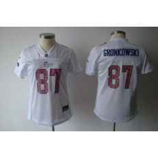 Women Nike New England Patriots 87 Rob Gronkowski White Static NFL Jersey