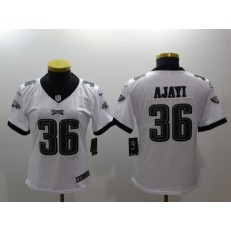 Women Nike Philadelphia Eagles 36 Jay Ajayi White Vapor Untouchable Limited NFL Jersey