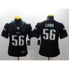 Women Nike Philadelphia Eagles 56 Chris Long Black Vapor Untouchable Limited NFL Jersey