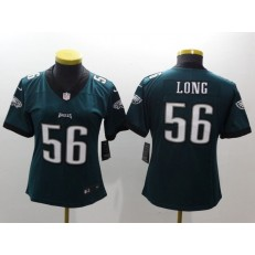 Women Nike Philadelphia Eagles 56 Chris Long Midnight Green Vapor Untouchable Limited NFL Jersey
