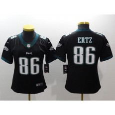 Women Nike Philadelphia Eagles 86 Zach Ertz Black Vapor Untouchable Limited NFL Jersey