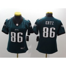 Women Nike Philadelphia Eagles 86 Zach Ertz Midnight Green Vapor Untouchable Limited NFL Jersey