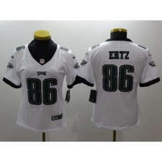 Women Nike Philadelphia Eagles 86 Zach Ertz White Vapor Untouchable Limited NFL Jersey