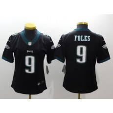 Women Nike Philadelphia Eagles 9 Nick Foles Black Vapor Untouchable Limited NFL Jersey
