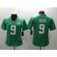 Women Nike Philadelphia Eagles 9 Nick Foles Green Vapor Untouchable Limited NFL Jersey