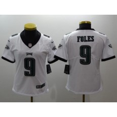 Women Nike Philadelphia Eagles 9 Nick Foles White Vapor Untouchable Limited NFL Jersey