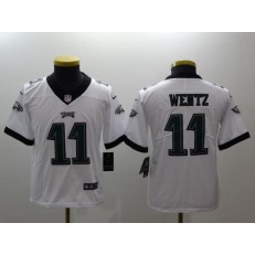 Youth Nike Philadelphia Eagles 11 Carson Wentz White Vapor Untouchable Limited NFL Jersey