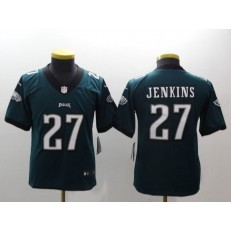 Youth Nike Philadelphia Eagles 27 Malcolm Jenkins Midnight Green Vapor Untouchable Limited NFL Jersey