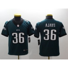 Youth Nike Philadelphia Eagles 36 Jay Ajayi Midnight Green Vapor Untouchable Limited NFL Jersey