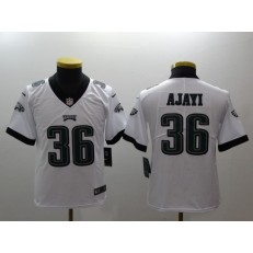 Youth Nike Philadelphia Eagles 36 Jay Ajayi White Vapor Untouchable Limited NFL Jersey