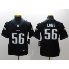 Youth Nike Philadelphia Eagles 56 Chris Long Black Vapor Untouchable Limited NFL Jersey