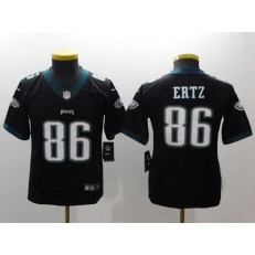 Youth Nike Philadelphia Eagles 86 Zach Ertz Black Vapor Untouchable Limited NFL Jersey