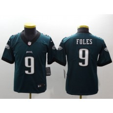 Youth Nike Philadelphia Eagles 9 Nick Foles Midnight Green Vapor Untouchable Limited NFL Jersey