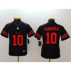 Youth Nike San Francisco 49ers 10 Jimmy Garoppolo Black Vapor Untouchable Limited NFL Jersey