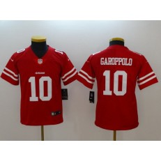 Youth Nike San Francisco 49ers 10 Jimmy Garoppolo Red Vapor Untouchable Limited NFL Jersey
