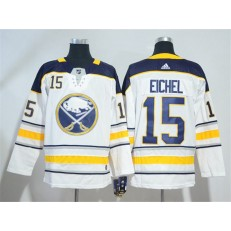 Adidas Buffalo Sabres 15 Jack Eichel White Road Authentic Stitched NHL Jersey