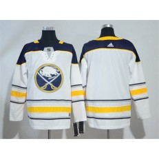 Adidas Buffalo Sabres Blank White Road Authentic Stitched NHL Jersey