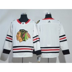 Adidas Chicago Blackhawks Blank White Road Authentic Stitched NHL Jersey