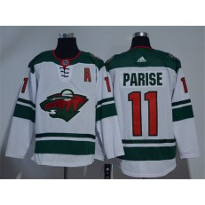 Adidas Minnesota Wild 11 Zach Parise White Road Authentic Stitched NHL Jersey