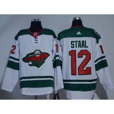 Adidas Minnesota Wild 12 Eric Staal White Road Authentic Stitched NHL Jersey