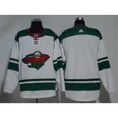 Adidas Minnesota Wild Blank White Road Authentic Stitched NHL Jersey