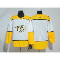 Adidas Nashville Predators Blank White Road Authentic Stitched NHL Jersey