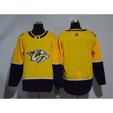 Adidas Nashville Predators Blank Yellow Home Authentic Stitched NHL Jersey