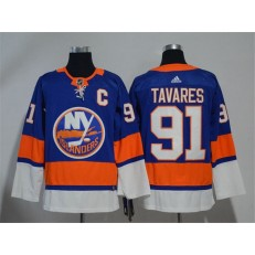 Adidas New York Islanders 91 John Tavares Royal Blue Home Authentic Stitched NHL Jersey