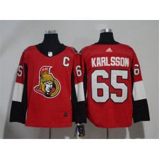 Adidas Ottawa Senators 65 Erik Karlsson Red Home Authentic Stitched NHL Jersey