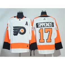 Adidas Philadelphia Flyers 17 Wayne Simmonds White Road Authentic Stitched NHL Jersey