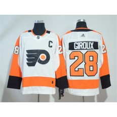 Adidas Philadelphia Flyers 28 Claude Giroux White Road Authentic Stitched NHL Jersey