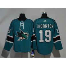 Adidas San Jose Sharks 19 Joe Thornton Teal Home Authentic Stitched NHL Jersey