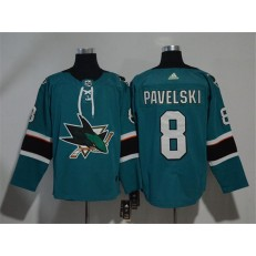 Adidas San Jose Sharks 8 Joe Pavelski Teal Home Authentic Stitched NHL Jersey