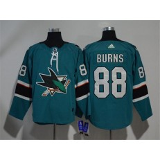 Adidas San Jose Sharks 88 Brent Burns Teal Home Authentic Stitched NHL Jersey