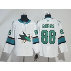 Adidas San Jose Sharks 88 Brent Burns White Road Authentic Stitched NHL Jersey