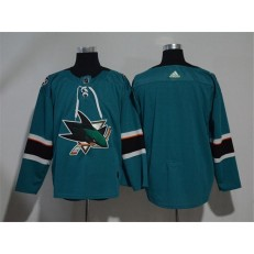 Adidas San Jose Sharks Blank Teal Home Authentic Stitched NHL Jersey