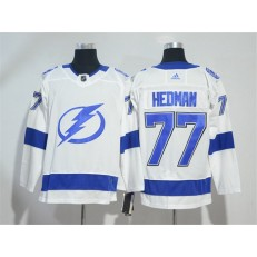 Adidas Tampa Bay Lightning 77 Victor Hedman White Road Authentic Stitched NHL Jersey
