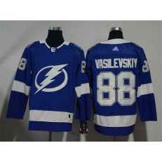 Adidas Tampa Bay Lightning 88 Andrei Vasilevskiy Blue Home Authentic Stitched NHL Jersey