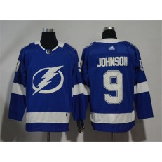 Adidas Tampa Bay Lightning 9 Tyler Johnson Blue Home Authentic Stitched NHL Jersey