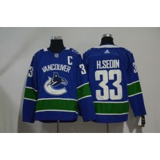 Adidas Vancouver Canucks 33 Henrik Sedin Blue Home Authentic Stitched NHL Jersey