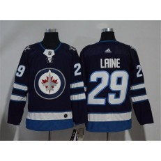 Adidas Winnipeg Jets 29 Patrik Laine Navy Blue Home Authentic Stitched NHL Jersey