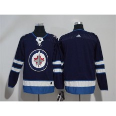 Adidas Winnipeg Jets Blank Navy Blue Home Authentic Stitched NHL Jersey