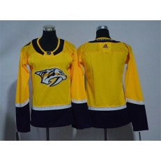 Women Adidas Nashville Predators Blank Yellow Home Authentic Stitched NHL Jersey