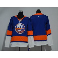 Women Adidas New York Islanders Blank Royal Blue Home Authentic Stitched NHL Jersey