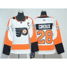 Women Adidas Philadelphia Flyers 28 Claude Giroux White Road Authentic Stitched NHL Jersey